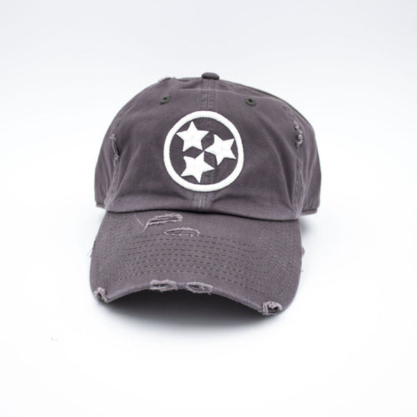 Tristar Distressed Hat - Gray