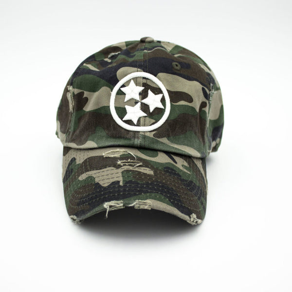 Tristar Distressed Hat - Camo
