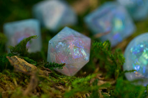 Raw: Blue Opal Handcrafted Dice