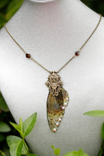 Load image into Gallery viewer, Boggart wing Necklace Brass or Silver