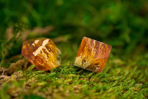 Raw Swamp Thing Petri Handcrafted Dice