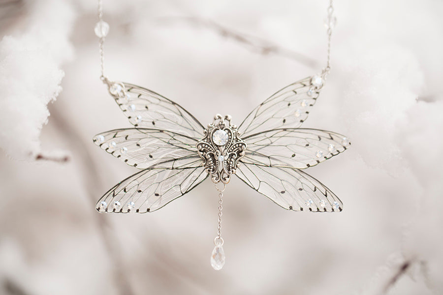 Limited Edition Ice Queen 6 wing Necklace Silver