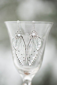 Limited Edition Ice Queen Fairy Wing Silver earrings