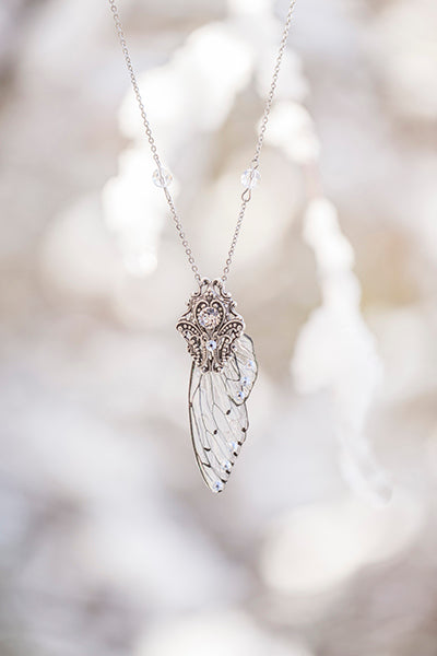Limited Edition Ice Queen wing Necklace Silver