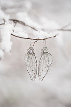 Load image into Gallery viewer, Limited Edition Ice Queen Fairy Wing Silver earrings