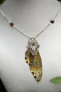 Boggart wing Necklace Brass or Silver