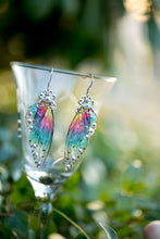 Load image into Gallery viewer, Sprite Fairy Wing Silver earrings brass or silver