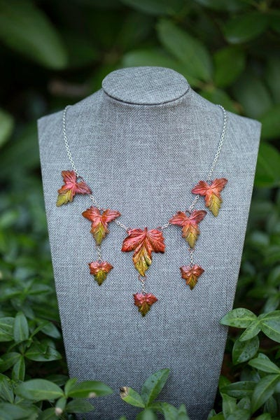 Fall Maple Cascade Necklace