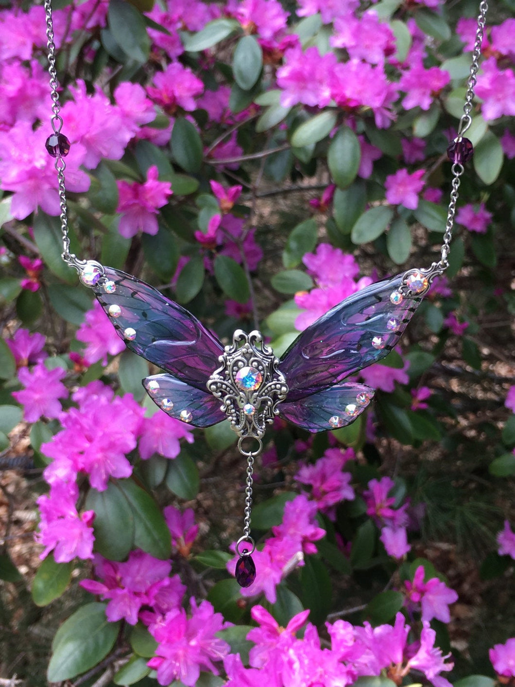 NEW! Nymph Butterfly Necklace Silver