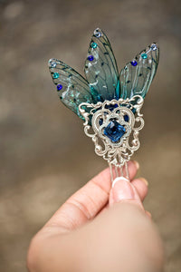 Sidhe Fairy Wing Silver Comb Custom
