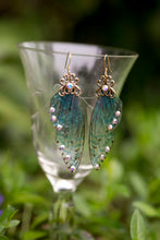 Load image into Gallery viewer, Selkie Fairy Wing earrings silver or brass