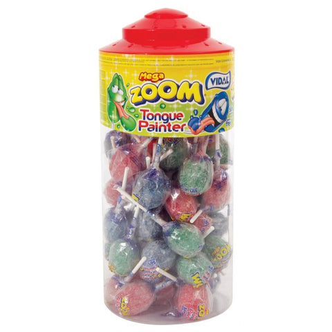 Vidal Mega Zoom Tongue Painter Lollies - SINGLE