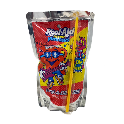 Kool Aid Retro Jammers Rock-A-Dile Red - 6oz (177ml)