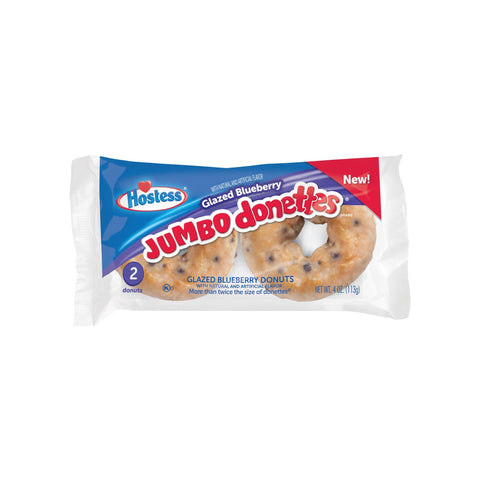 Hostess - Glazed Blueberry Jumbo Donettes - Twin Pack - 4oz