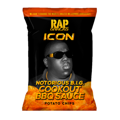 Rap Snacks Icon Notorious B.I.G. Cookout BBQ Sauce Potato Chips - 2.75oz (78g)