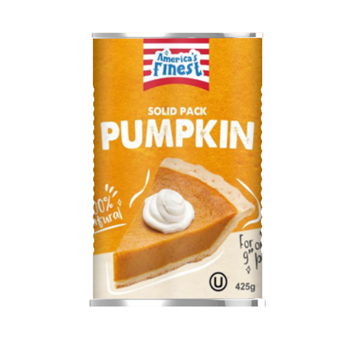 America's Finest 100% Natural Solid Pack Pumpkin - 15oz (425g)