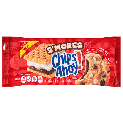 Chips Ahoy! S'mores Filled Soft Cookies - 9.6oz (272g) **BB 01/4/21**