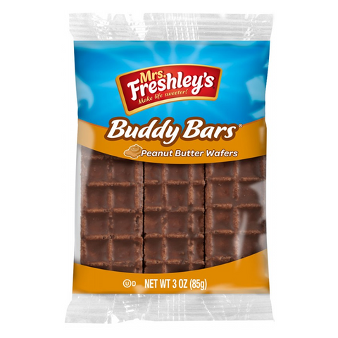Mrs Freshley's Buddy Bar Peanut Butter Wafers Triple Pack 3oz (85g)