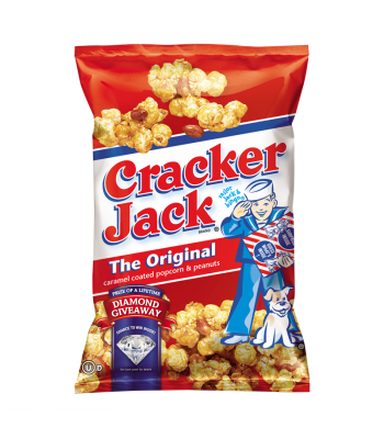 Frito Lay Cracker Jack Original Caramel Coated Popcorn & Peanuts 3.125oz (88.5g)