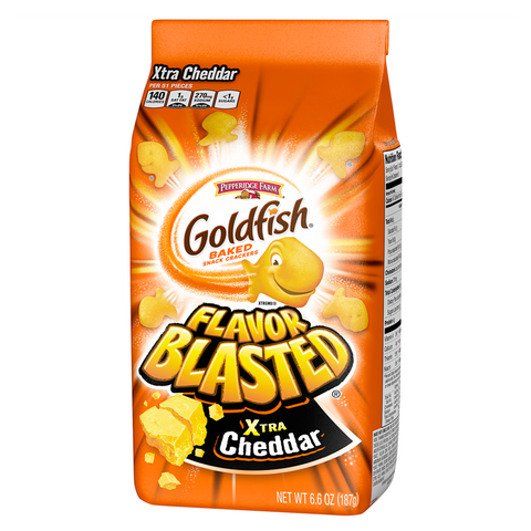 Goldfish Crackers - Flavor Blasted Xtra Cheddar 6.6oz (187g)
