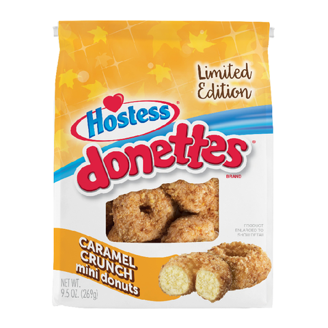 Hostess Limited Edition Caramel Crunch Mini Donettes - 9.5oz (269g)