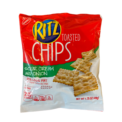 RITZ Toasted Chips Sour Cream and Onion Crackers - 49g