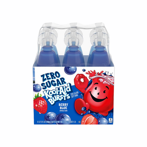 Kool Aid Burst Berry Blue Zero Sugar 6-Pack