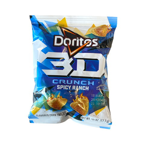Doritos 3D Crunch Spicy Ranch Flavored Corn Snacks, 17.7g
