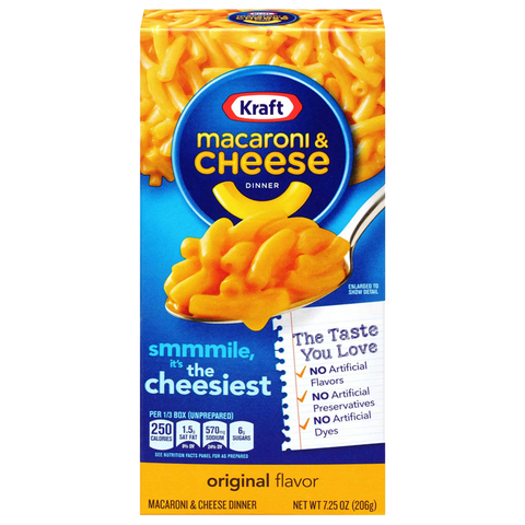 Kraft Macaroni Cheese Original 7.25oz (206g)