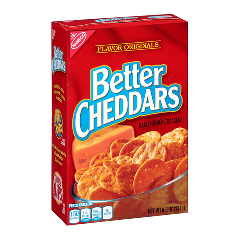 Nabisco Better Cheddars Crackers - 6.5oz (184g)