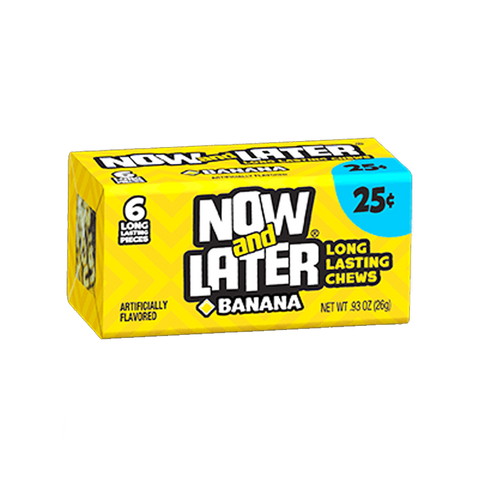 Now & Later 6 Piece Banana Candy 0.93oz (26g)
