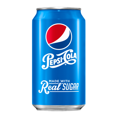 Pepsi Cola Made with Real Sugar (Throwback) 355ml Can