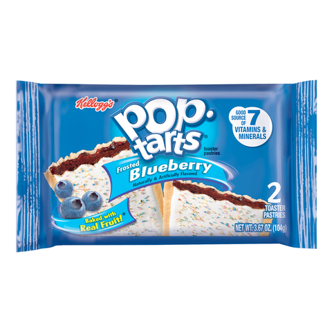 Kellogg's Pop Tarts Frosted Blueberry 104g (2 Pack)