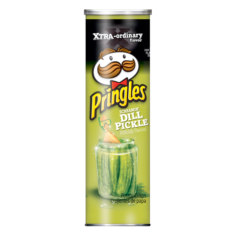 Pringles Xtra Screamin' Dill Pickle 5.96oz (168g)
