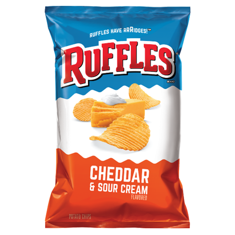 Ruffles Potato Chips Cheddar and Sour Cream 6.5oz (184.2g)