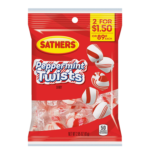 Sathers Peppermint Twists - 2.85oz (81g)