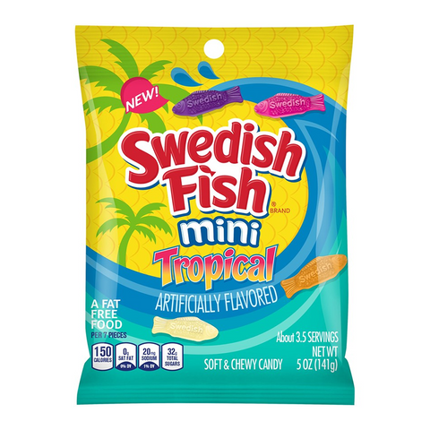 Swedish Fish Tropical Peg Bag - 5oz (141g)