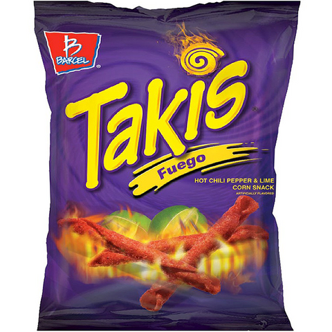 Takis Fuego Hot Chili Pepper & Lime Tortilla Chips - 4oz (113.4g)