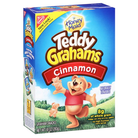 Teddy Grahams Cinnamon Cereal Snack 10oz (283g)