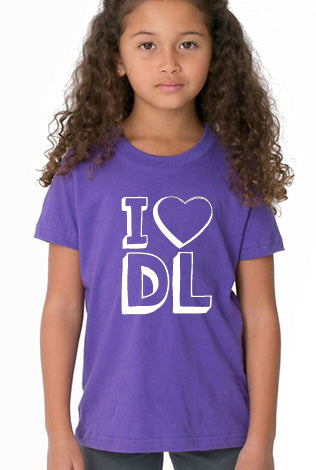 Cotton Short Sleeve - I <3 DL - Youth