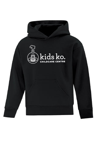 Cotton Fleece Hoodie - Full Front - Youth