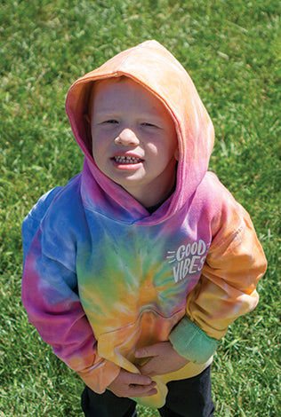 Good Vibes Tie Dye Pullover Hoodie - Youth