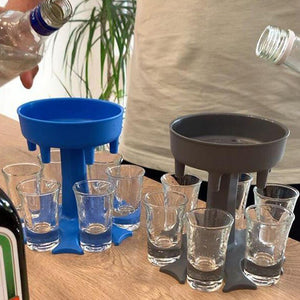 6 Shot Glass Dispenser  Party Gifts Drinking Games Shot Glasses