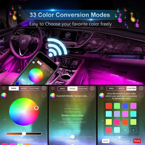 APP Controller Car Interior Lights with Sound Active Function