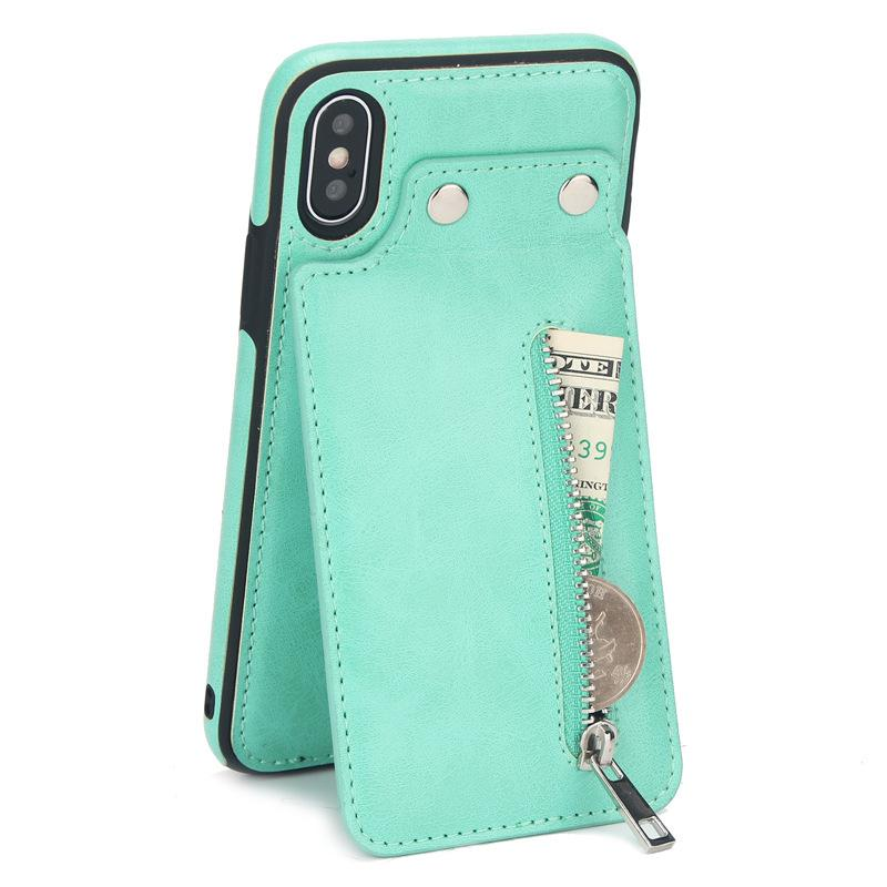 iPhone &Samsung Wallet Case with Credit Card Slots Shockproof