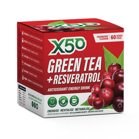 X50 Green Tea and Resveratrol Cranberry 60 Serve