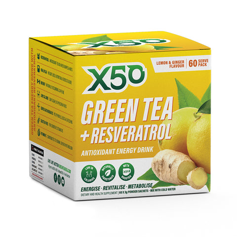 X50 Green Tea and Resveratrol Lemon & Ginger