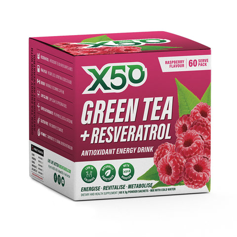 X50 Green Tea and Resveratrol Raspberry