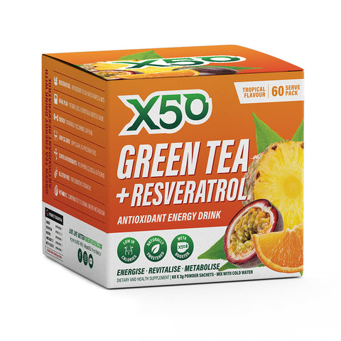 X50 Green Tea and Resveratrol Tropical