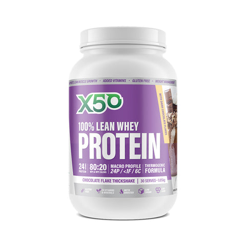 X50 100% Lean Whey Protein Chocolate Flake Thickshake